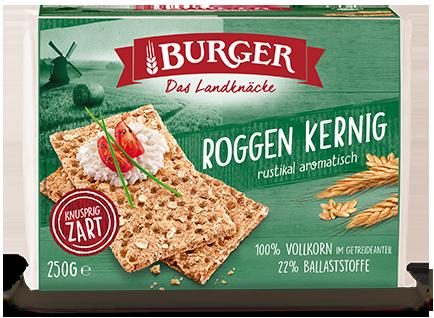 Burger Knäcke Roggen Kernig 250g