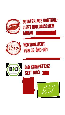 Infos zum BURGER Bio-Sortiment